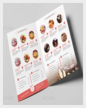 Bakery & Cupcake Shop Menu Template Sample Download