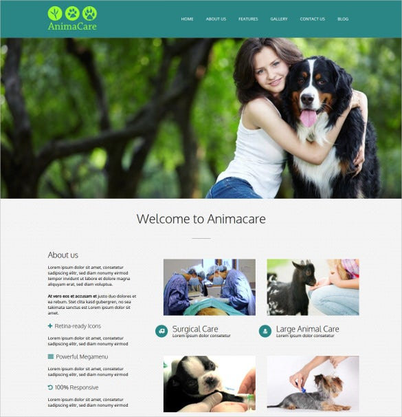 animal pets wordpress website veterinarian theme 59