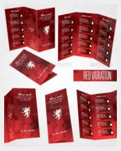 Wine Card Menu PSD Format Template Download