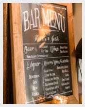 Example Custom Printable Beer Bar Menu Template Download
