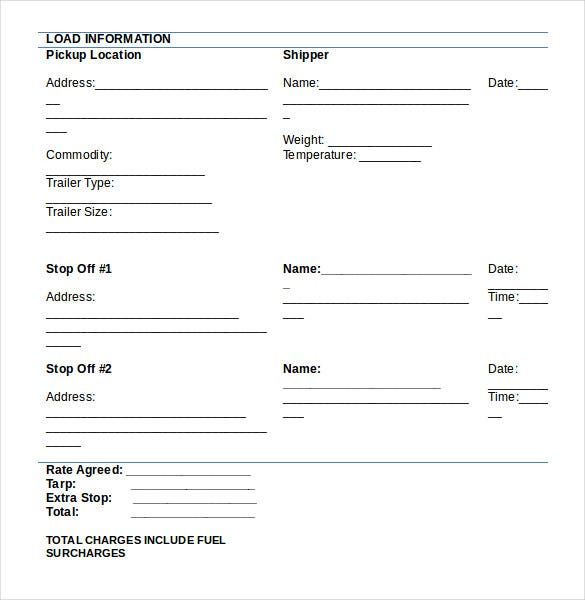 Pick Up Slip Template Images Templates Design Ideas