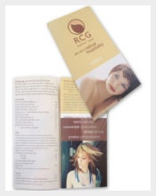 RCG Salon and Spa Menu Brochure Template Sample Download