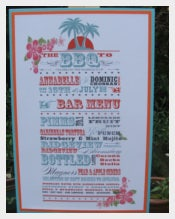 Funky Caribbean Style BBQ and Drinks Menu Template Sample Download