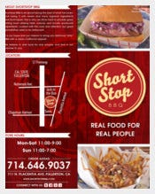 ShortStop BBQ Menu Template Sample Download