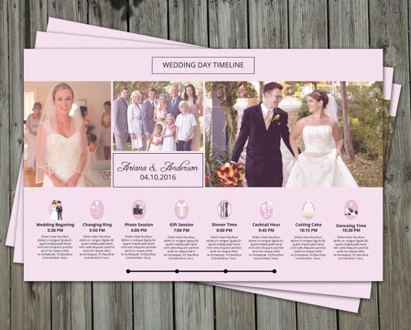 attractive wedding timeline template download