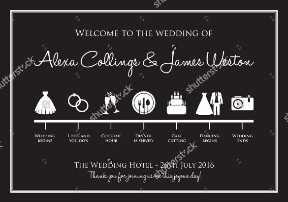 professional wedding timeline template for download