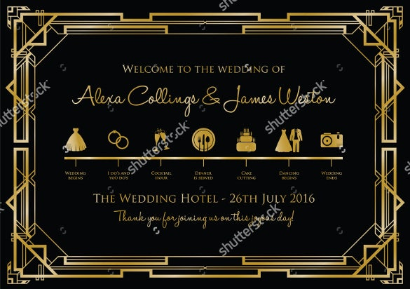 elegant wedding timeline template for download