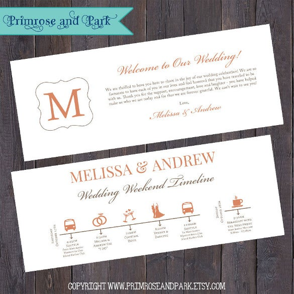 corporate wedding timeline template download