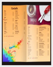 Universal Price Menu Template Sample Download