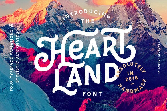 heartland typography font download