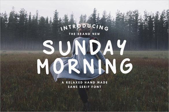 sunday morning custom typography font