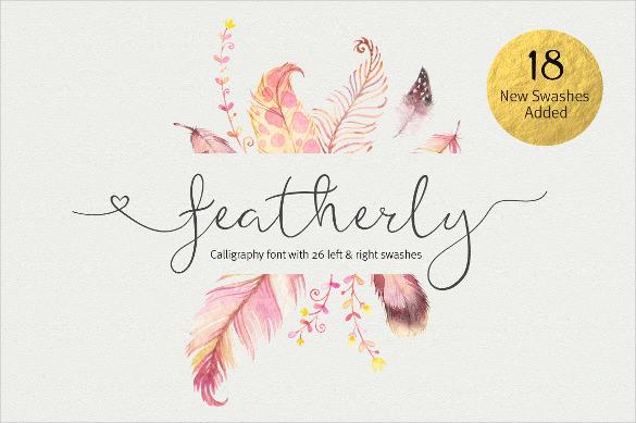 featherly wedding font1