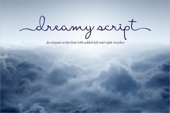 dreamy script typography font