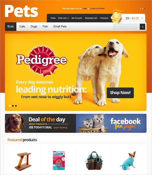 animal pet supplies opencart template 89