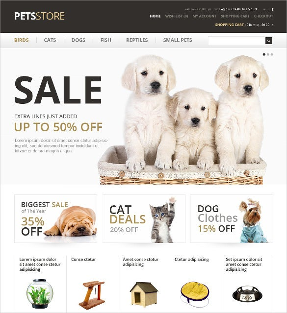 animal pet care opencart template 89