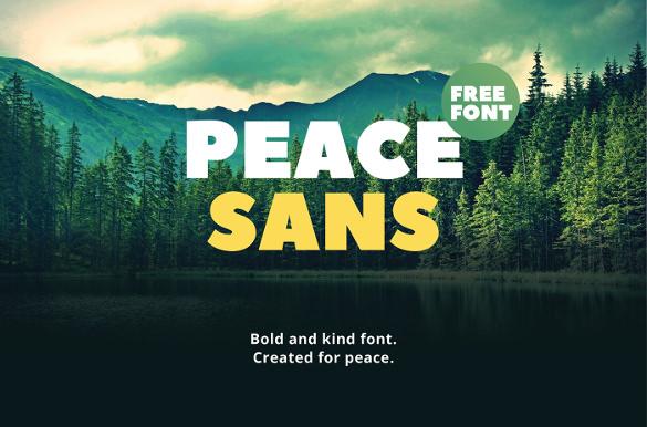 peace sans typography font