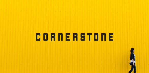 cornerstone typography font download