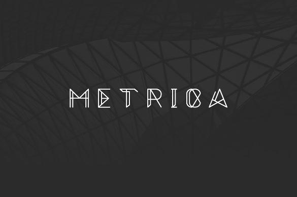 metrica uppercase typography font