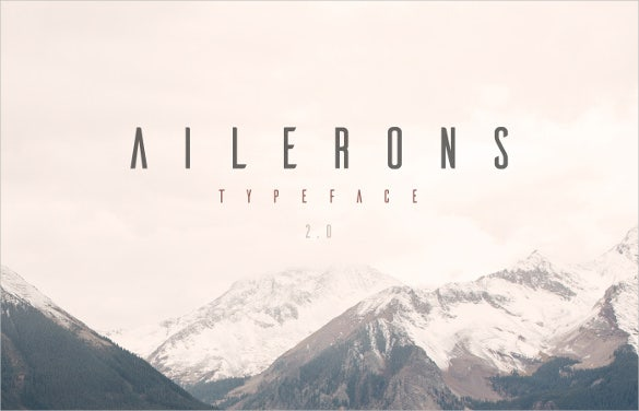 ailerons typeface font free download