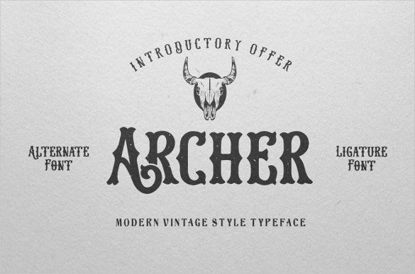 archer font psd download