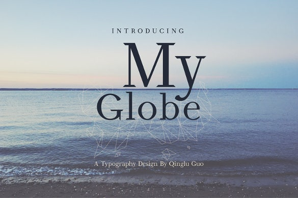 my globe font download