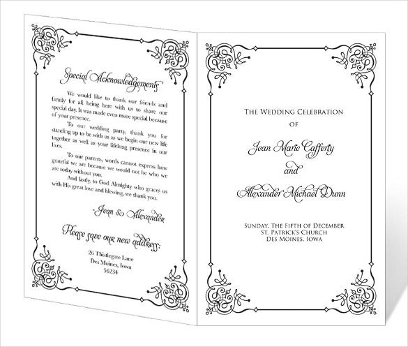 free wedding program templates word wedding program template 41 free word pdf psd