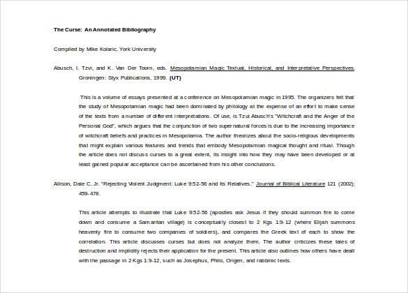 annotated bibliography turabian sample