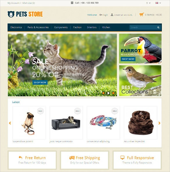 design animal pets opencart responsive theme 48
