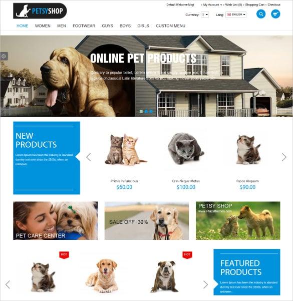 fashion animal pets shop responsive opencart theme 48