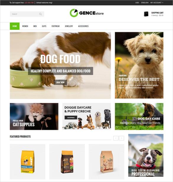 animal pets multi store responsive opencart theme 48