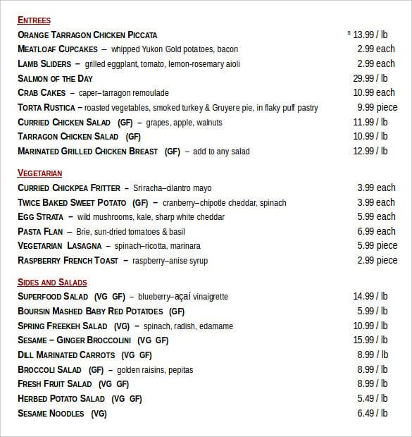 hotcakes weekly menu order document1