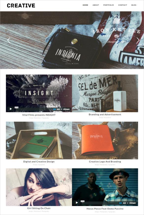 creative portfolio wordpress theme1