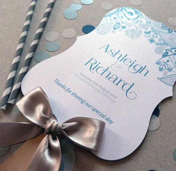 corporate wedding order of service template for download