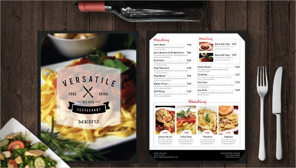 752 Menu Templates Ai Psd Docs Pages