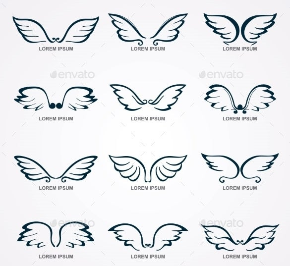 wings collection stencil template download
