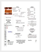 PDF Format Mansfield Take Out New Menu Template Download