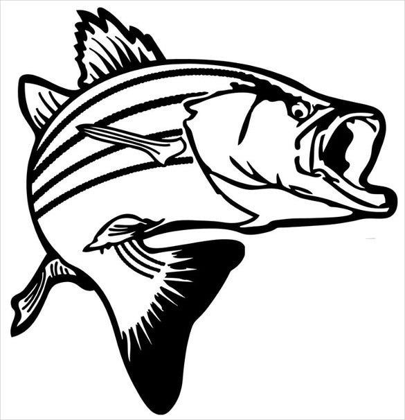 trout stencil template printable download