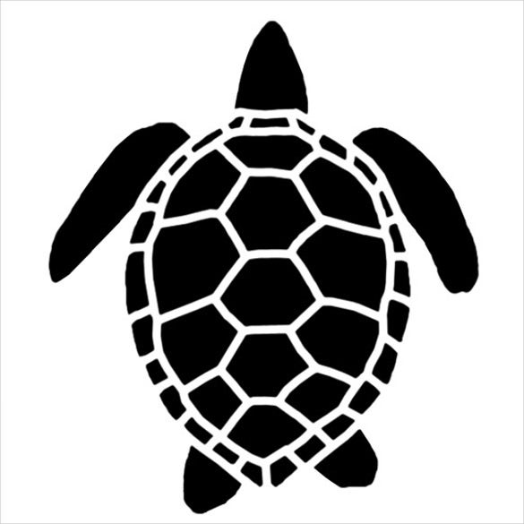 sea turtle stencil template download