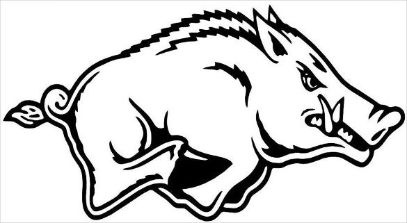arkansas razorbacks stencil template download