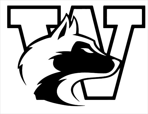 washington huskies stencil template for free