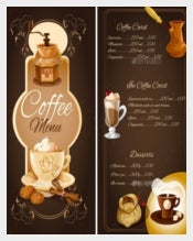 Coffee Menu Vector EPS Format Download