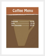 Example Coffee Menu Template Download