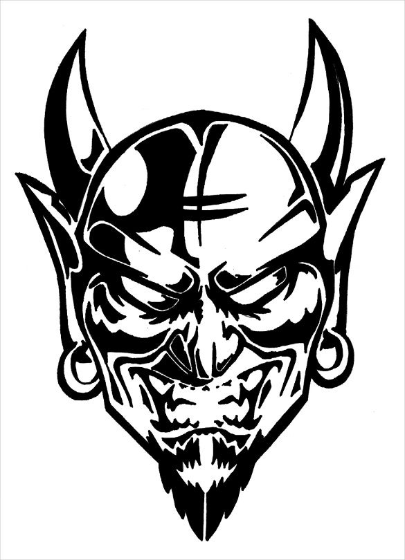 devil stencil halloween template download