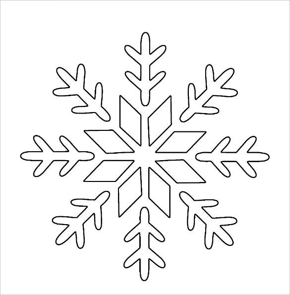 holiday snowflake stencil template free download