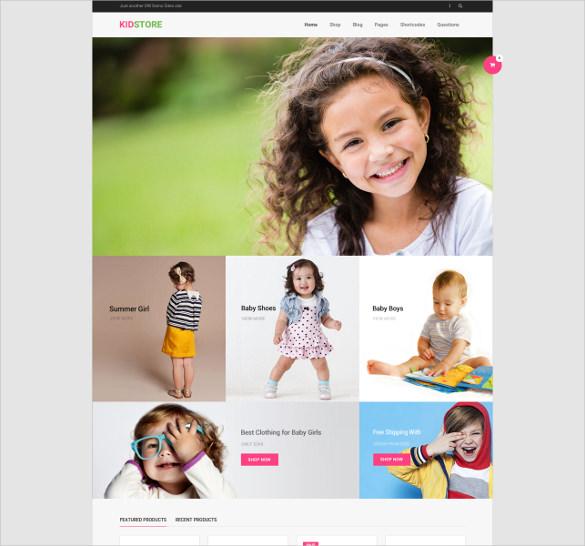 children wp ecommerce theme
