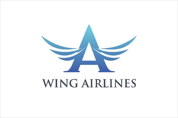 wing airline logo psd download