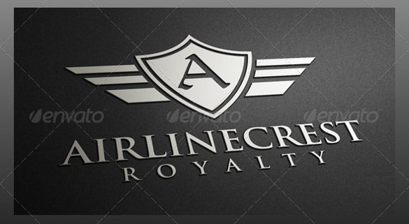 airline crest logo template