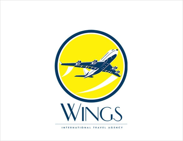 wings international travel airline logo