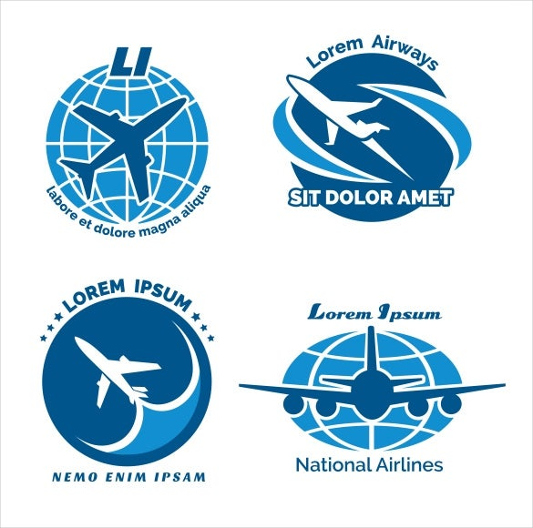 set of airline logos