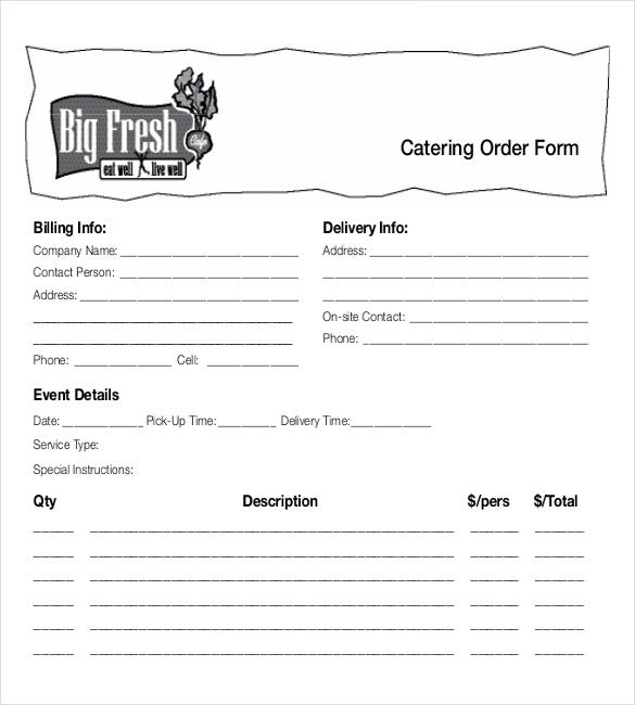 Food Order Templates  Free Sample Example Format Download
